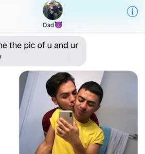 "His dad asked to see a picture of his ""boy toy,"" what happened next was the sweetest thing ever"