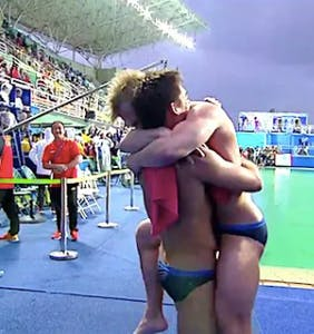 "When the newspaper called two male Olympians hugging ""unmanly,"" the internet went bananas"