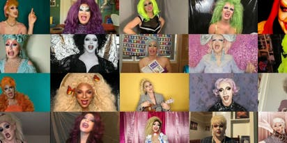 WATCH: Drag queens perform powerful 'We'll Meet Again' to help elders