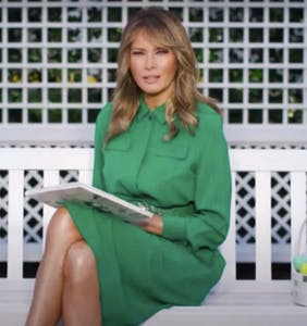 Melania Trump performs stony reading of children's book for Easter, brings joy to no one