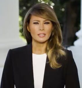 Melania Trump tries to be inspiring in icy new video, fails miserably