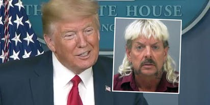 "Donald Trump says he'll ""take a look"" at Joe Exotic's pardon request"