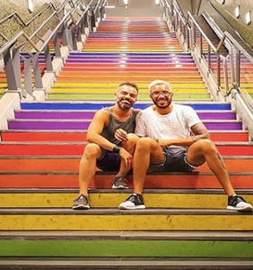 PHOTOS: Check out this fabulous subway station named after a queer Argentinian hero