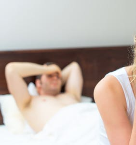 She can't stop thinking about her boyfriend's gay past every time they have sex together