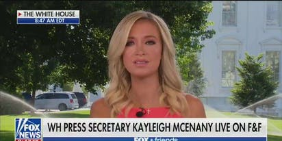 "Kayleigh McEnany once again outdoes herself with vile defense of Trump's ""white power"" retweet"