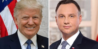 Trump congratulates Poland's homophobic President on his re-election
