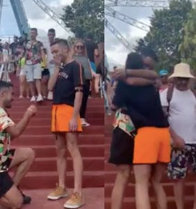 Witness the rare, gay double-proposal that went viral