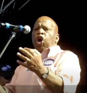 That time John Lewis gave a passionate impromptu speech at Atlanta pride in 2010