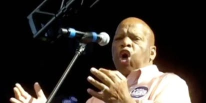 That time John Lewis gave a passionate impromptu speech at Atlanta pride in 2010