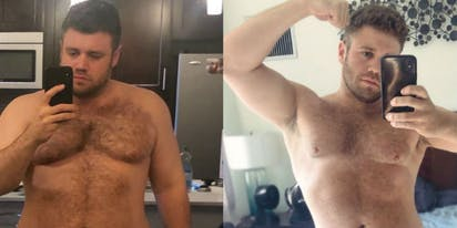 Gay man's 90-day quarantine transformation goes viral and prompts debate