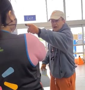 "Maskless religious nut rages at Wal-Mart crew: ""You aren't even human. You are only animal."""