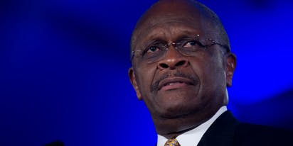 Um, Herman Cain died two weeks ago… so why is he bashing Kamala Harris on Twitter?