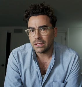 WATCH: Dan Levy talks about doing Julianne Moore drag