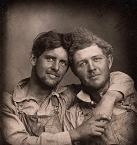 Stunning new photography book showcases men in love between 1850 and 1950