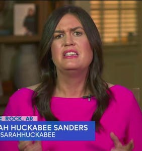 "Sarah Huckabee Sanders went on ""The View"" this morning and OMG you guys"