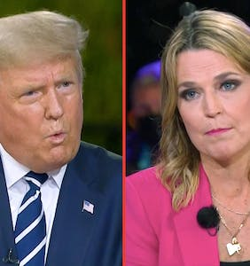 "The internet is stanning Savannah Guthrie for calling Trump a ""crazy uncle"" to his face"
