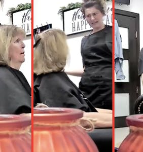 Karen told to go home and wash dye out of hair herself after having racist hissy fit inside salon