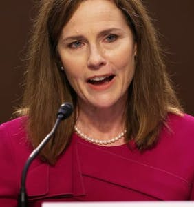 Amy Coney Barrett says she can't comment on marriage equality, but she just did