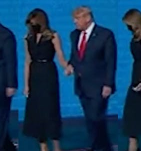 WATCH: Melania yanks hand away from Donald after final debate