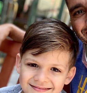 Gay dad shuts down inquiry about whether he wants his son to like guys or girls