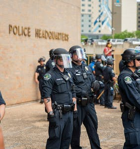 "Texas cop slapped with suspension for calling protester ""that gay dude"""